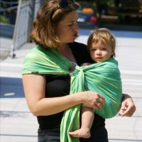 Didymos Karikás Kendő Zöld hullámok