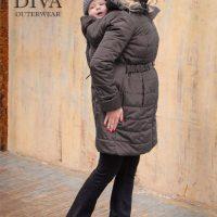 Graphite téli kismama kabát 4 in 1 funkcióval-Diva Milano