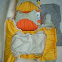 POP-IN mosható pelenka-narancs szett