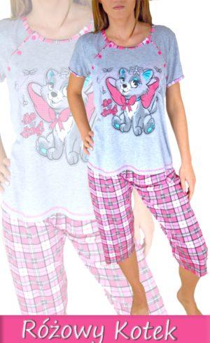 Kismama és Szoptatós Pizsama Pink Cica