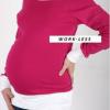 Két színű kismama felső Pink-Fehér