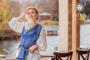 Azzurro babahordozó kendő lennel-Diva Essenza