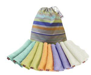 POP-IN bambusz törlőkendők pasztell színben