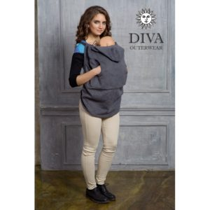 Grafit Diva Milano téli gyapjú hordozós takaró