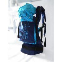 Kék betyáros klasszik csatos hordozó-MAGYARINDA®