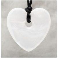 Szív gyöngyház medál-Eredeti Teething Bling