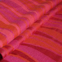 Didymos babahordozó kendő Piros hullámok