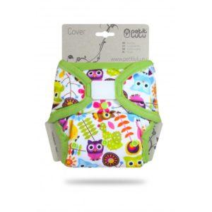 Petit Lulu egyméretes tépőzáras pelenkakülső Happy Owls