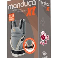 Manduca® XT biopamut csatos babahordozó - grey-orange